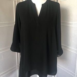 The Limited - Adjustable Sleeve Tunic Blouse